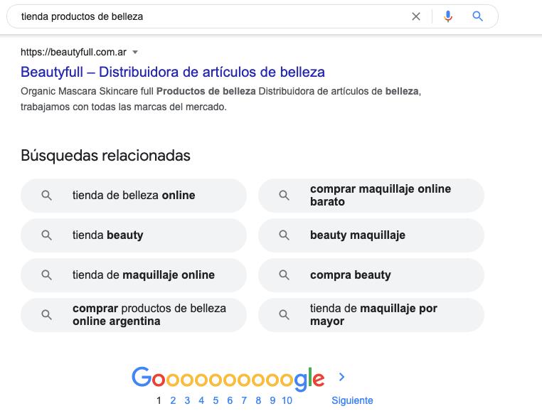 """Investiga en Google las """"búsquedas relacionadas"""" e inspírate para incluirlas como keywords en tu sitio web."""